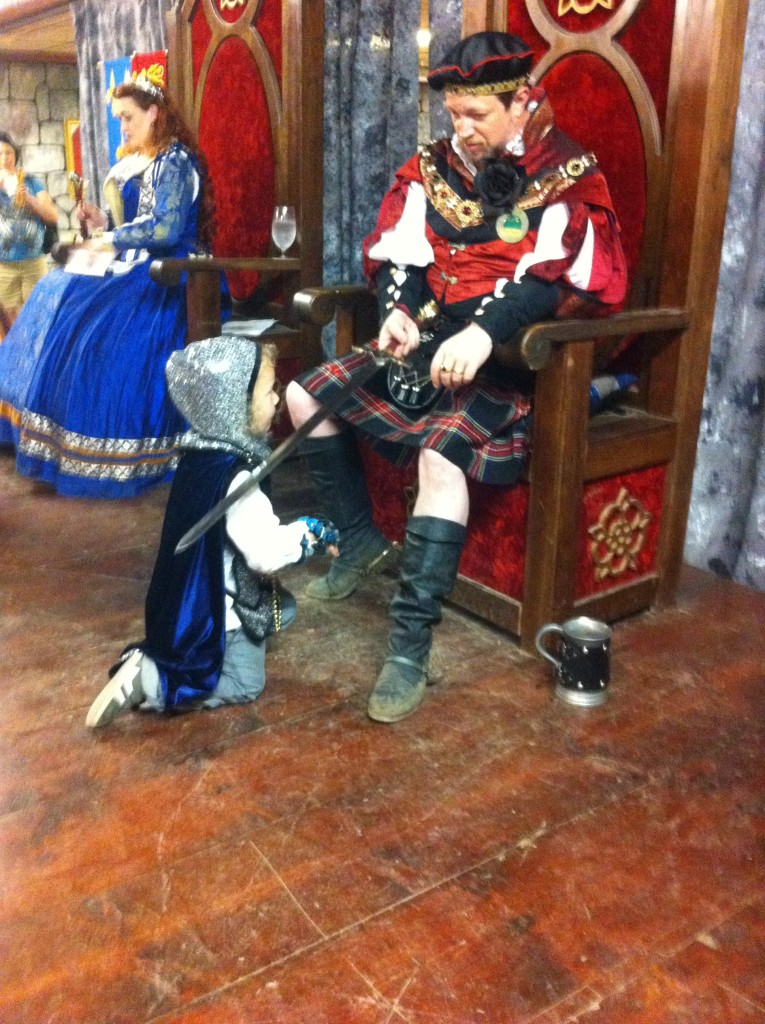Getting knighted