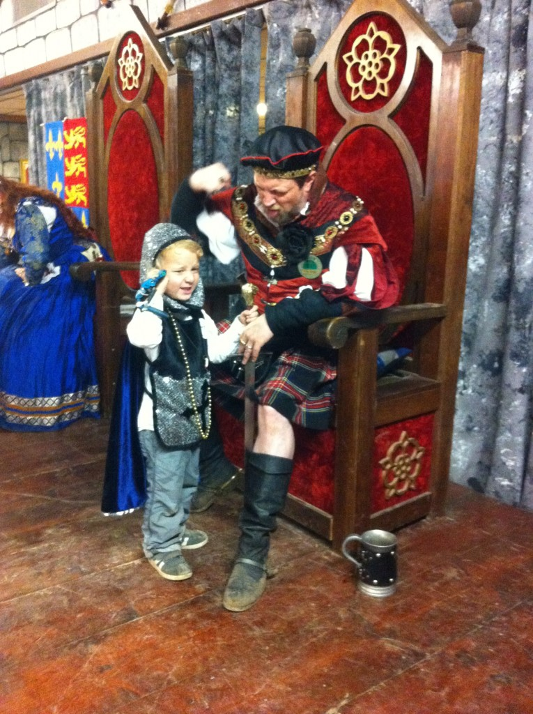 Sir Donovan being knighted with his new dragon friend Fire
