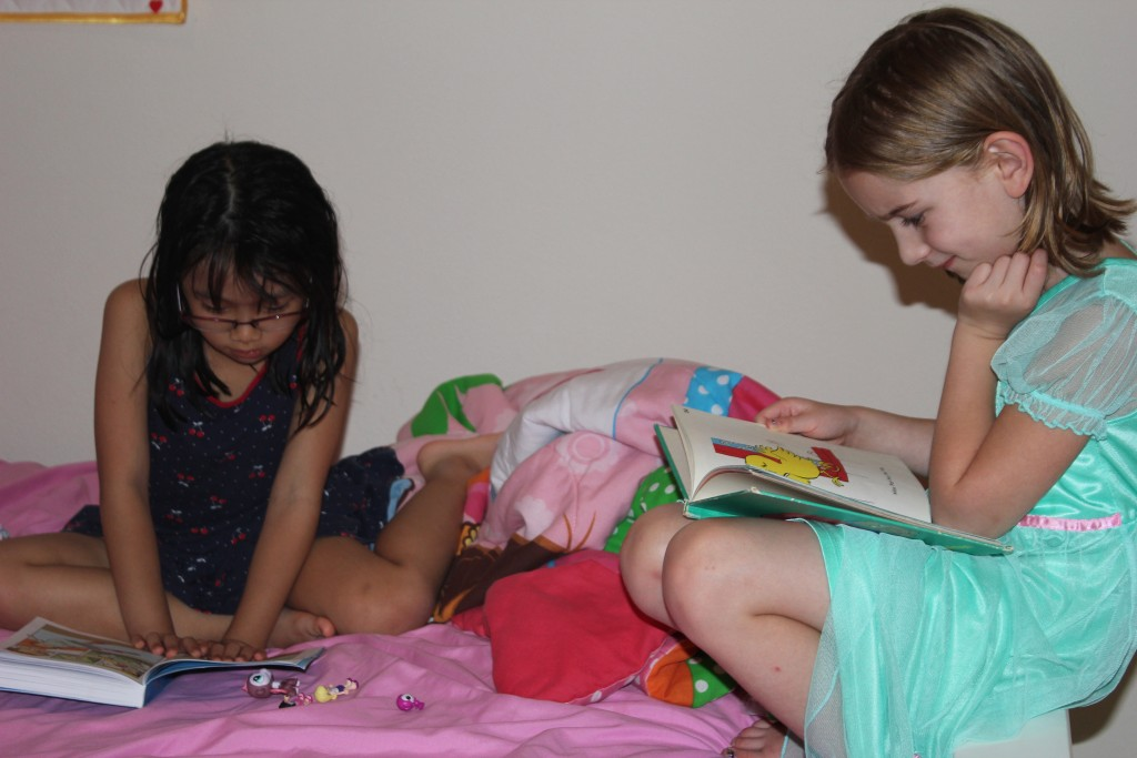 Reading with Samantha =)