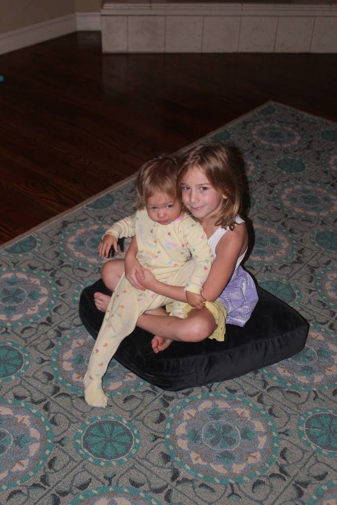 Such a good sister!  Maia says Serenity all the time and runs to cuddle her =)