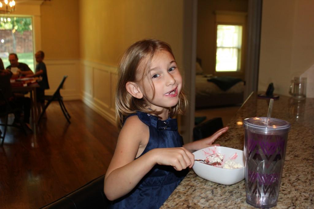 Eating ice cream on Mimi's birthday =)