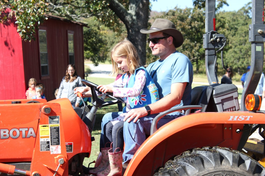 Driving the tractor with Uncle Casey