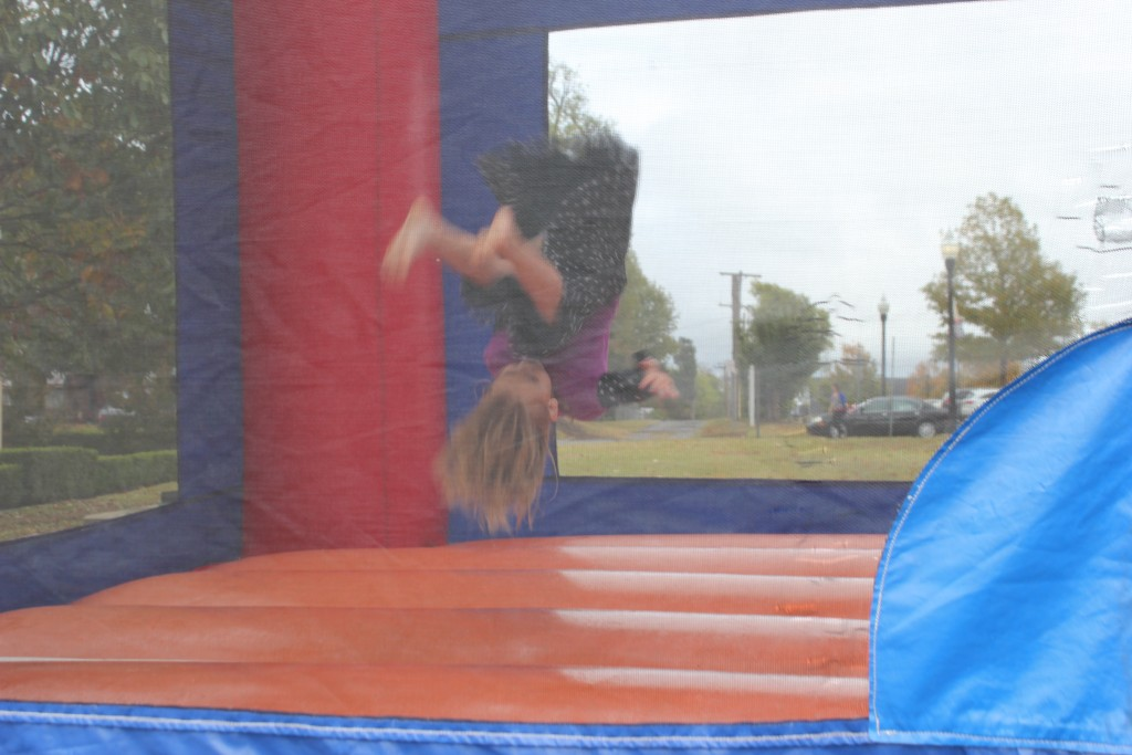 Forward Flips in the bouncy house =) She asked me to video and take pics =)