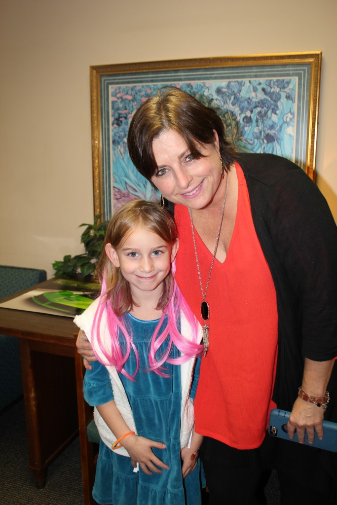 With her teacher Mrs. Ritchie at the carnival =)