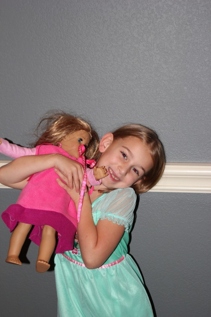 Serenity asked to sew doll clothes for McKenna! She started with this nightgown =)