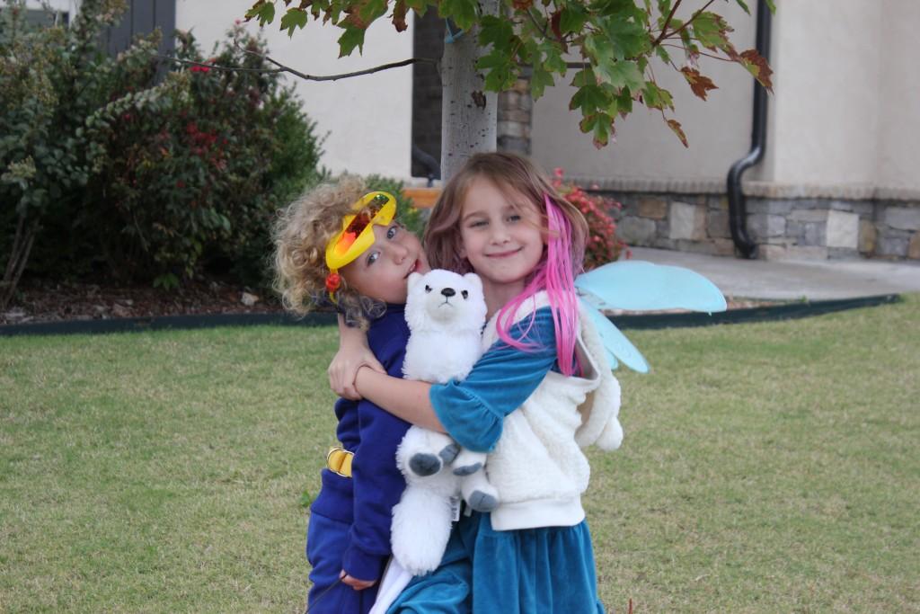 Hugging her friend Cyclops =)