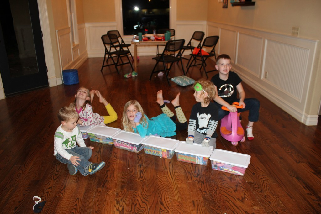 The Richards came down and we did our traditional shoeboxes for Operation Christmas Child.  So much fun!  I just love starting our holiday season this way =)