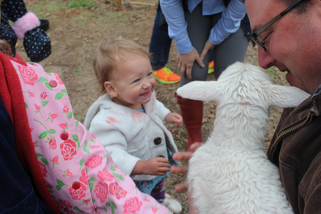 Easter on the farm with Uncle Casey and a sheep =)