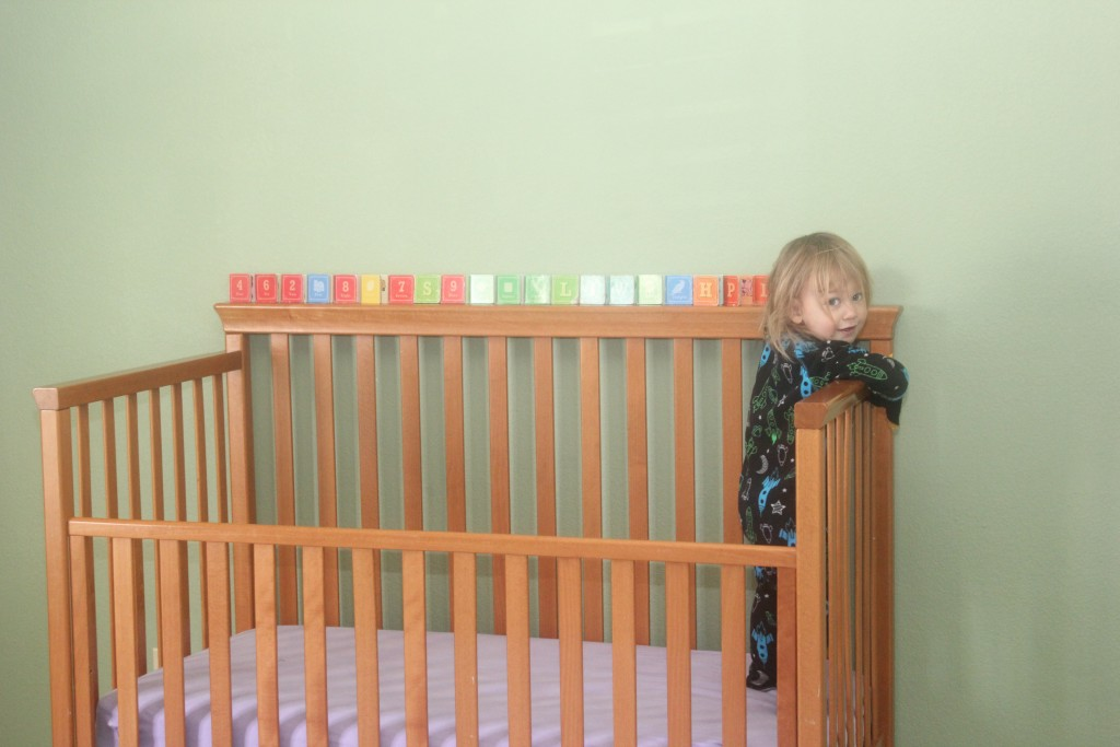 Maia adores these little board books. The day she lined them all up on her bed was too cute!