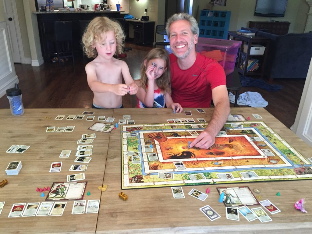 Father's Day Game. The kids and I let Eric choose the game, and he picked Talisman! It's such a long game, but the kids love it! And it is really fun!