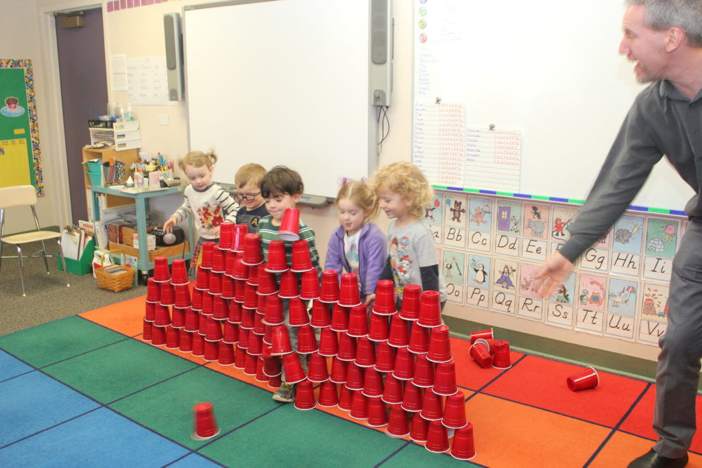 February 2016, 100th day of school party cup tower