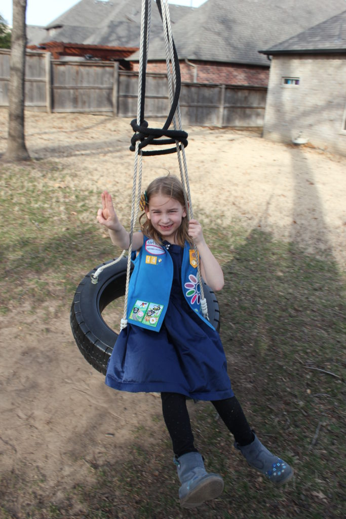 She loves our tire swing =)
