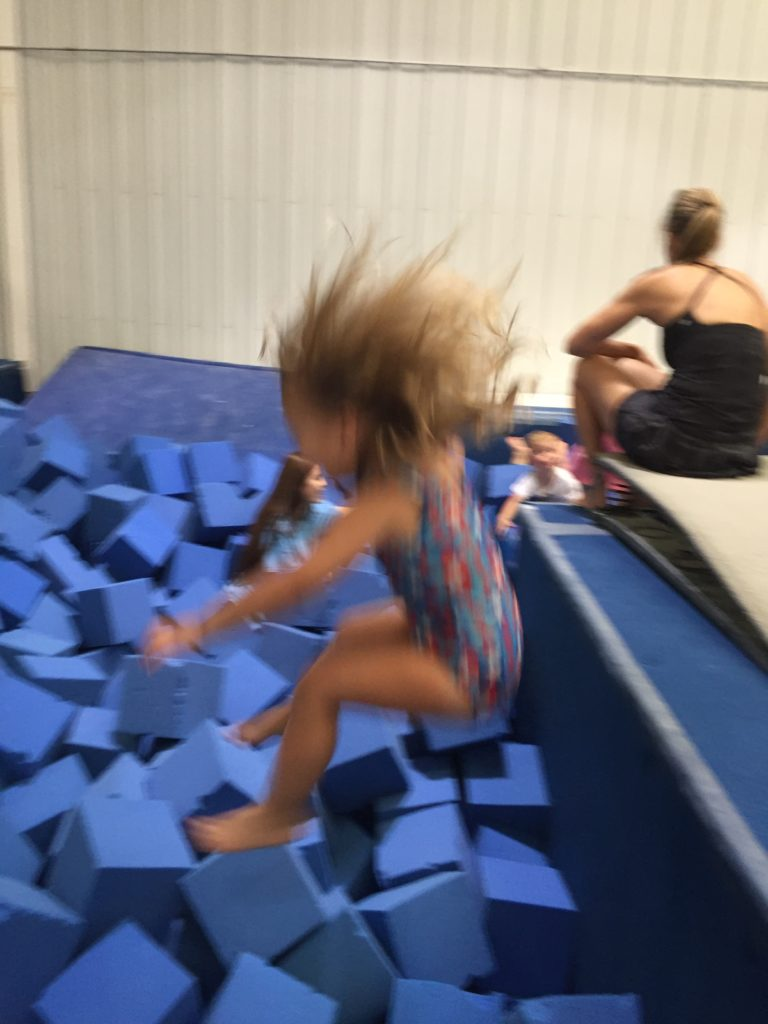 Her favorite part of gymnastics class =)