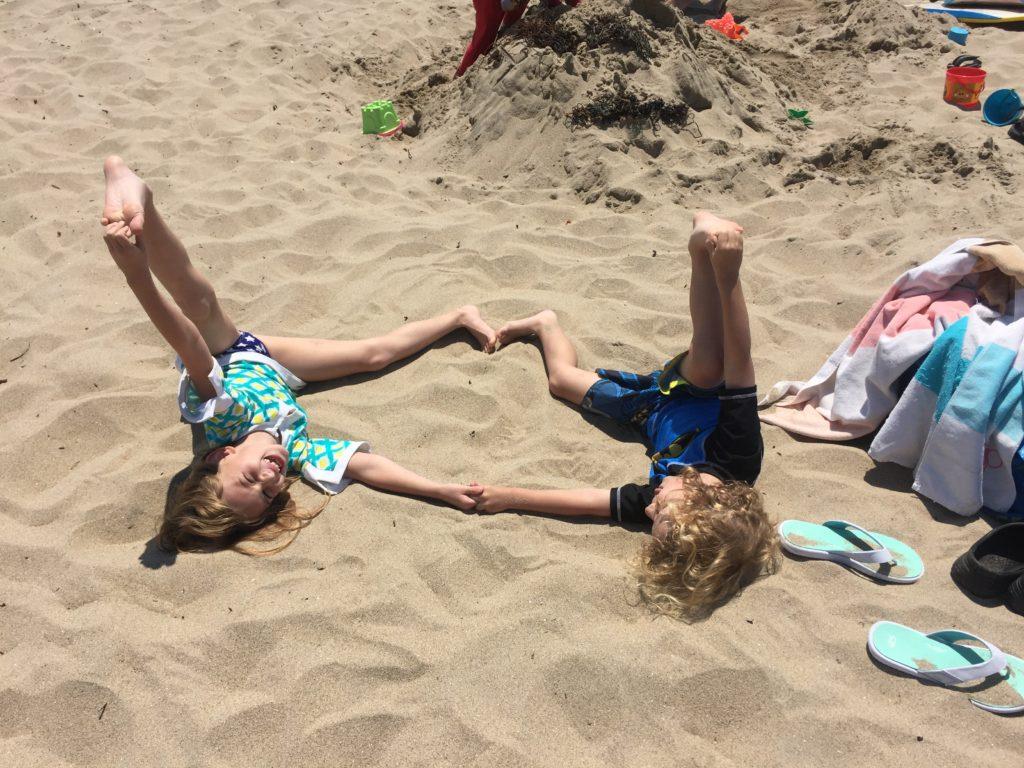 Yoga on the beach in Cali =)