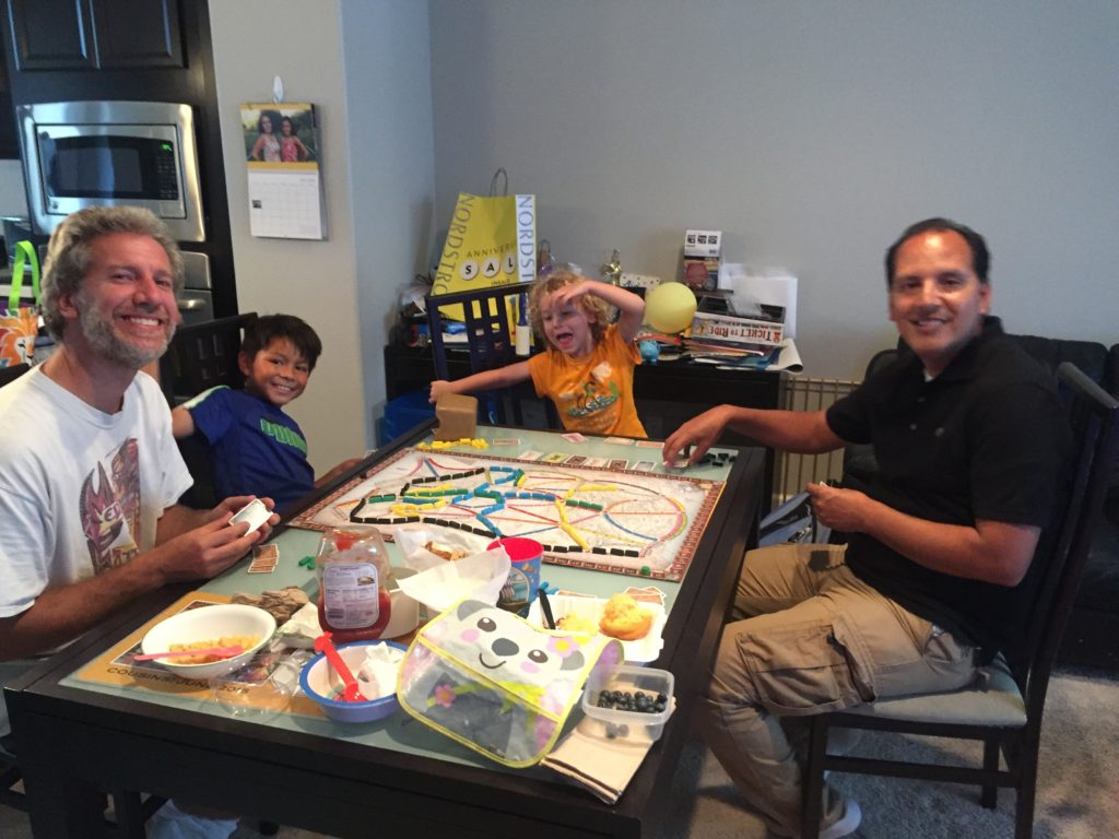 Games with Aidan and Uncle Juan and Daddy!