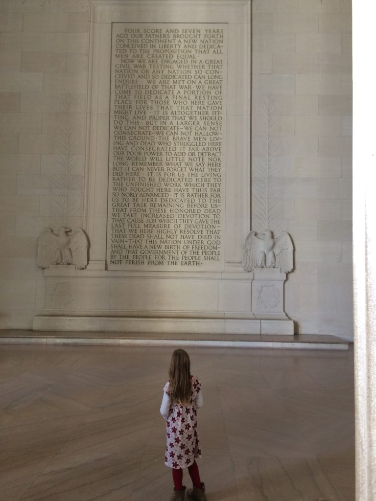 Serenity reading the Gettysburg Address