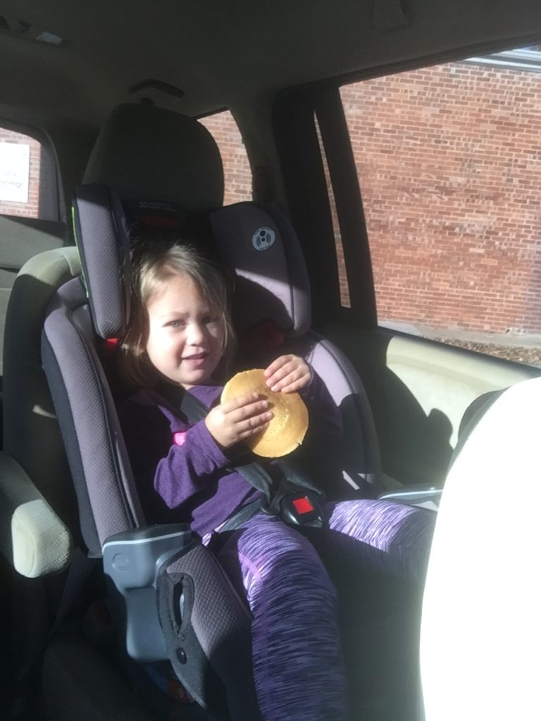 We have about half an hour between drop off and music class... and we often fill it with pancakes from McD's