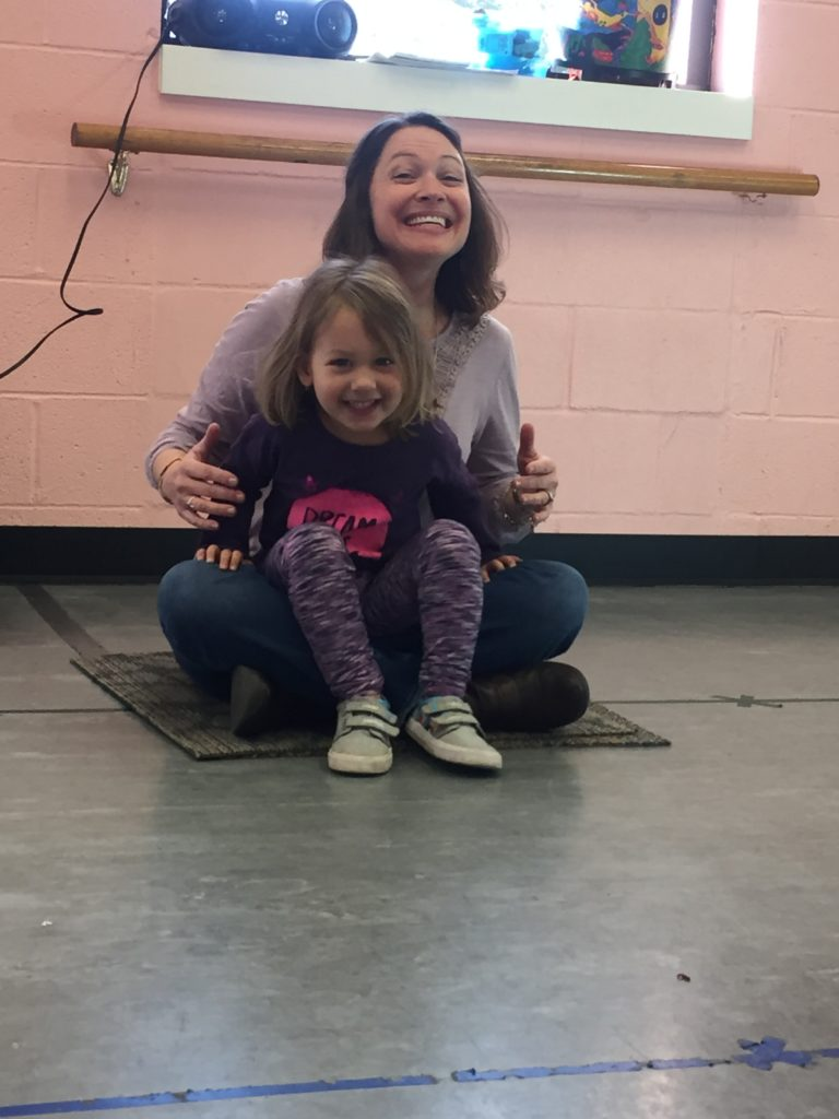 Maia adores her music teacher, Ms. Katherine.  She is always ready to run and sit in her lap when it's time for tonal patterns!