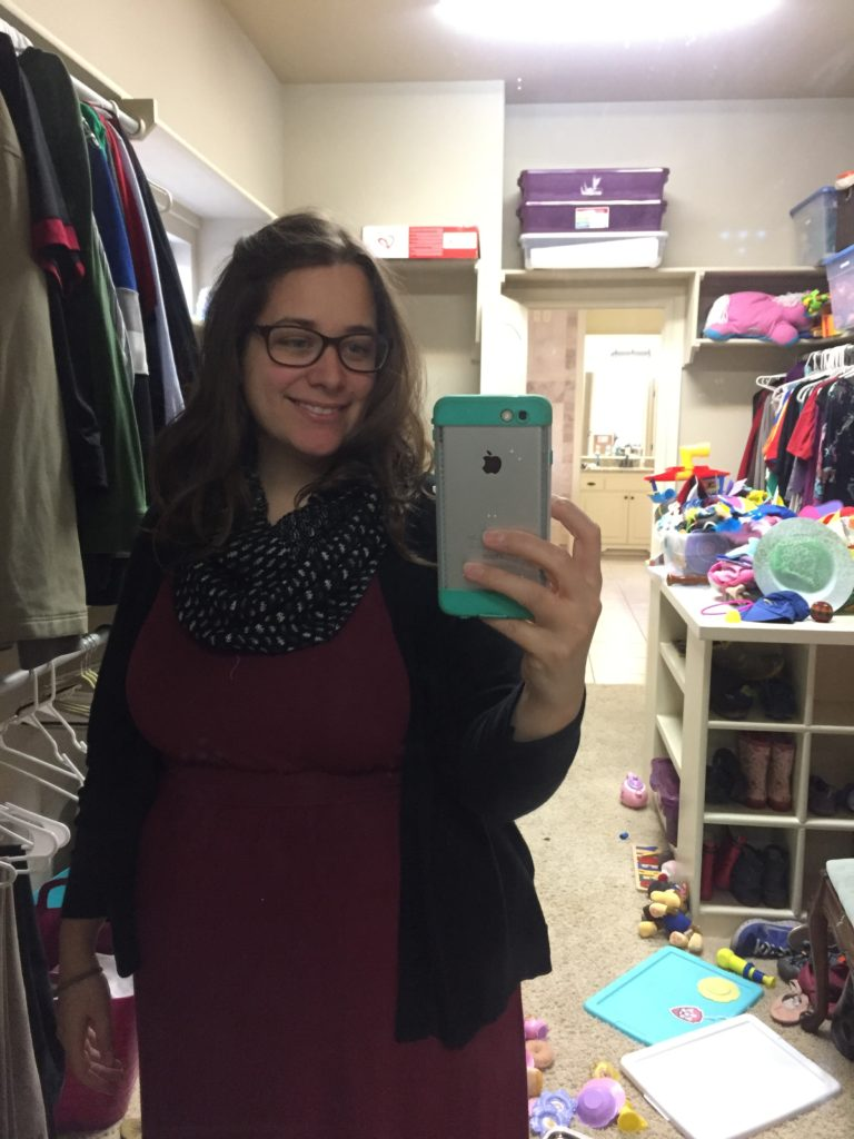 Look, a picture of me!  My stitch fix came =)